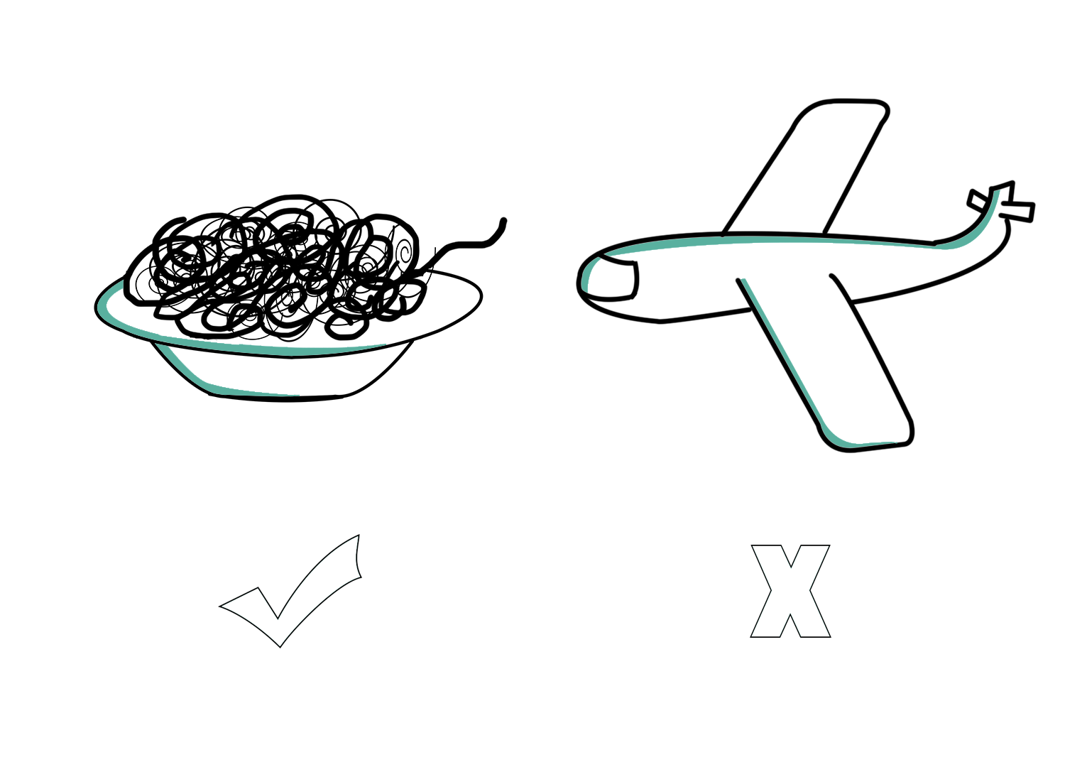 Illustrations spaghettis-avion